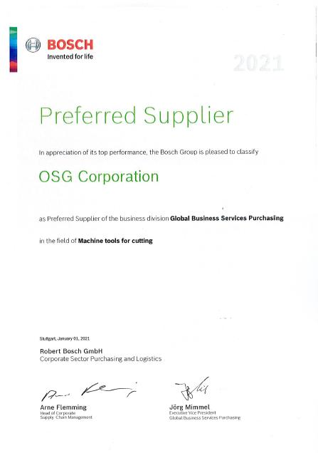 Bosch Preferred Supplier